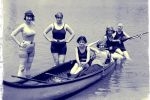 canoe, paddleboat & rowboats included - even great-grandma loved a good paddle (circa 1920)