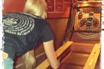 vintage games room with skeeball, crokinole, darts & more