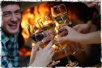 enjoy a drink by one of the two log fireplaces any time of the year