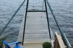 Large 48 foot dock on Lake Muskoka
