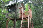 Treehouse overlooks the lake