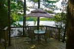 Westside Deck /Dining area Overlooks lake