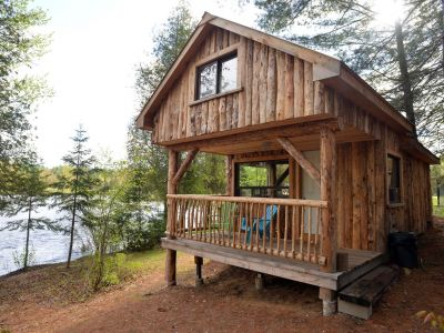The Log Cabin waterfront