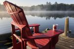 Morning coffee on the dock.