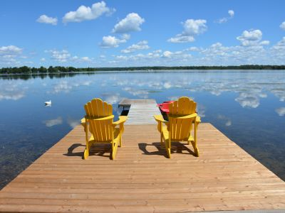Enjoy the lake from your private dock.